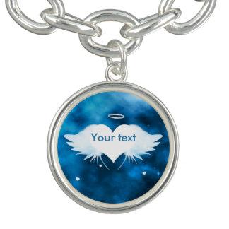 Bracelet de charme avec le charme - ange du coeur