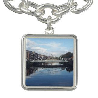 Bracelet de charme de paysage de pont de Dublin
