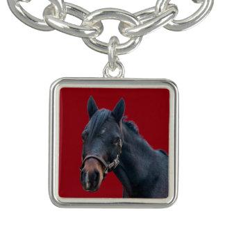 Bracelet de charme de poney de vacances