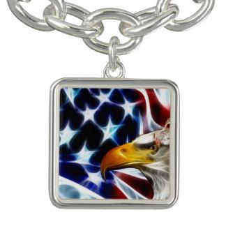 Bracelet de charme d'Eagle d'Américain