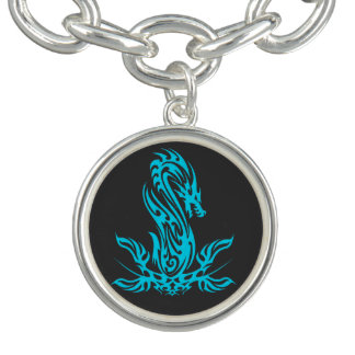 Bracelet Huile cyan du dragon 19
