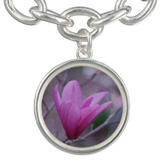 Bracelet japonais de charme de magnolia