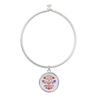 Bracelet Rigide Amour Minnesota de paix