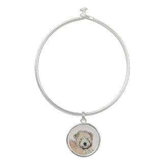 Bracelet Rigide Art blond comme les blés Doux-Enduit de chien de