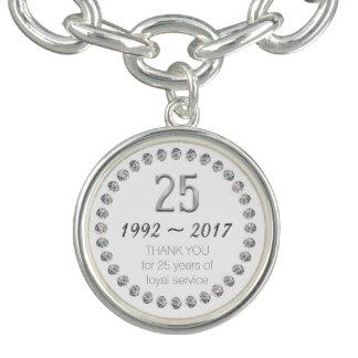Bracelets Avec Breloques 25ème charme de travail des employés
