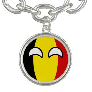 Bracelets Avec Breloques La Belgique Geeky tendante drôle Countryball
