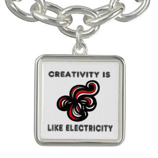 """Bracelets Avec Breloques La """"créativité est charme Brac de carré comme"""