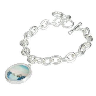 Bracelets Avec Breloques Noël suisse de bleu d'opus
