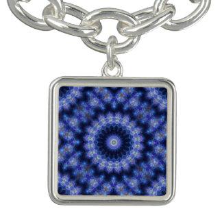 Bracelets Charme bleu de mandala de Cobolt