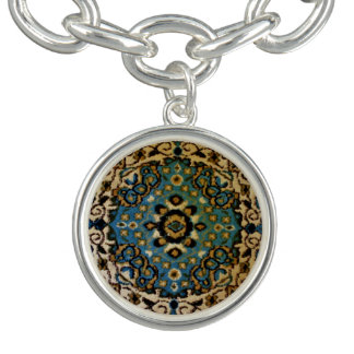 Bracelets Couverture orientale bleue
