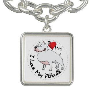 Bracelets J'aime mon chien de Pitbull