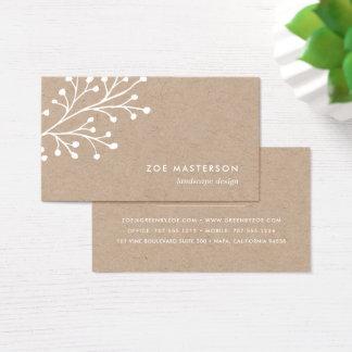 Branche minimaliste | Papier d'emballage Cartes De Visite