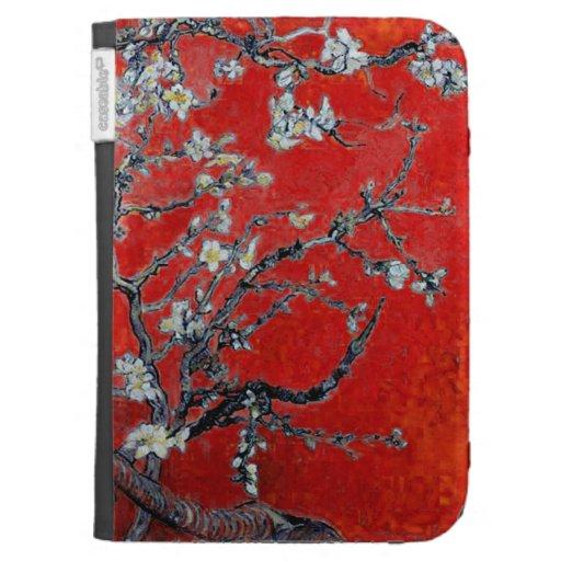Branches de Vincent van Gogh avec la fleur d'amand Coque Folio Kindle