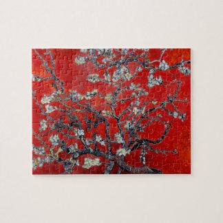 Branches de Vincent van Gogh avec la fleur d'amand Puzzle
