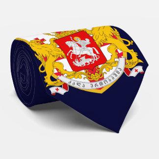 Bras de manteau de drapeau de la Géorgie Cravate