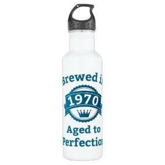 Brassé en 1970 âgé à la perfection bouteille d'eau en acier inoxydable