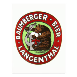 Brasserie Baumberger Langenthal carte postale