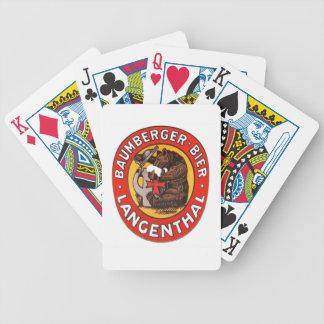 Brasserie Baumberger Langenthal de jeux de cartes