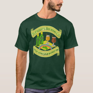 Brasserie drôle de lutin du jour de Patrick de T-shirt