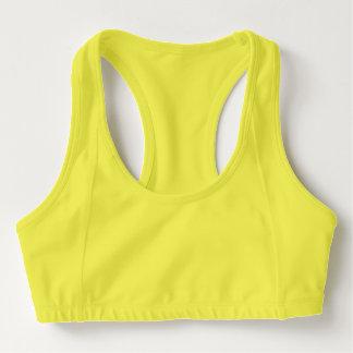 Brassière Soutien-gorge des sports des femmes, jaune de néon