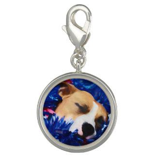 Breloque Avec Photo Pitbull Terrier américain de chien patriotique des