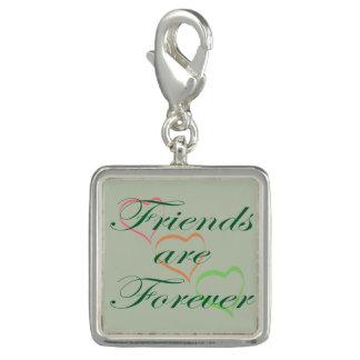 Breloque Les amis sont pour toujours des coeurs