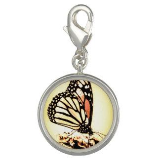 Breloque Papillon de monarque, orange