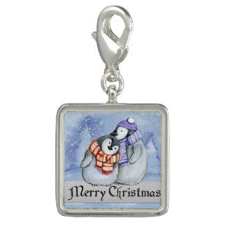 Breloque Pingouins doux d'hiver de Joyeux Noël petits