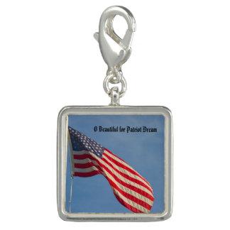 Breloque Rêve de patriote de drapeau américain