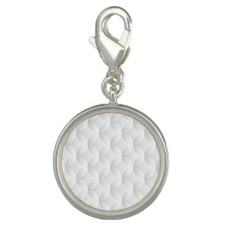 Breloques Avec Photo Cercle blanc de relief