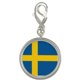Breloques Avec Photo Drapeau de la Suède