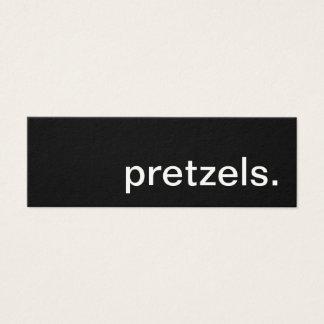 bretzels. carte perforée de fidélité