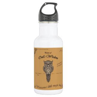 Breuvage magique de la sagesse du hibou bouteille d'eau en acier inoxydable