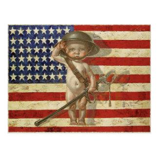 Briefkaart met de Held van de Oorlog van het Baby  Wens Kaart