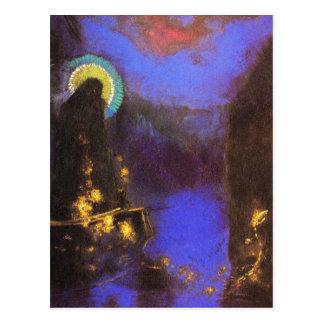 Briefkaart:  Virgin met het Symbolist Schilderen Wenskaart