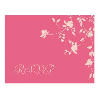 Briefkaarten van het Huwelijk RSVP van de Pioen