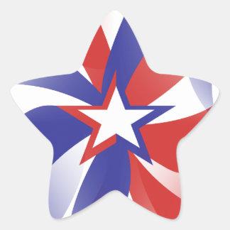 Brillez-moi les autocollants patriotiques - cadeau
