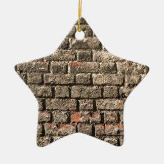 Briques grises ornement étoile en céramique