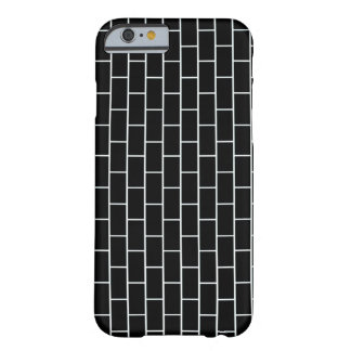 Briques noires coque iPhone 6 barely there