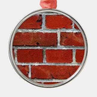 Briques Ornement Rond Argenté
