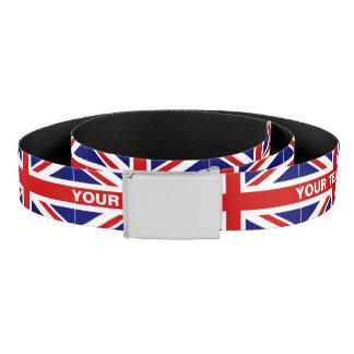 Britse van het de vlagcanvas van Union Jack riem |