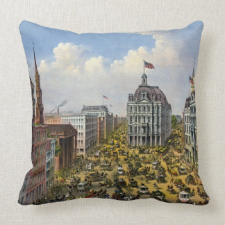 Broadway New York City 1875 Coussin