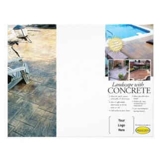Brochure de aménagement concrète pour Brickform Prospectus 21,6 Cm X 24,94 Cm