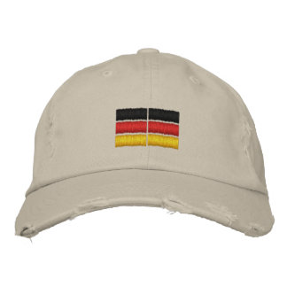 Broderie allemande de drapeau casquette brodée