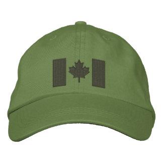Broderie canadienne de drapeau casquette de baseball brodée