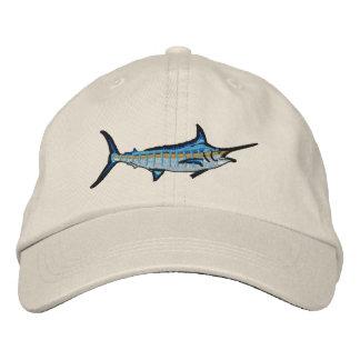 Broderie de Marlin bleu de pêche sportive Casquette Brodée