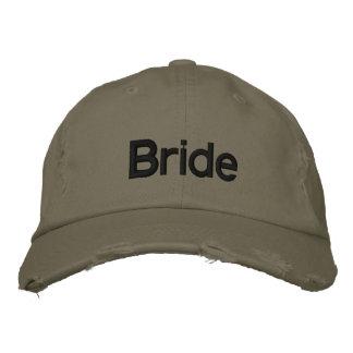 Brodez le casquette du chapeau   de jeune mariée d casquette de baseball brodée