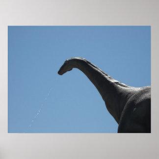 Brontosaure de dinosaure poster