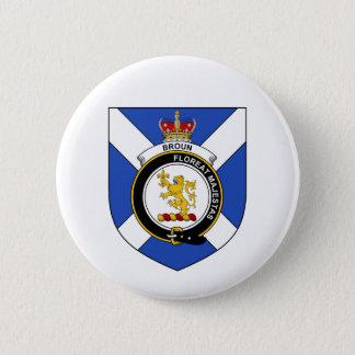 Broun (Brown) Badge Rond 5 Cm