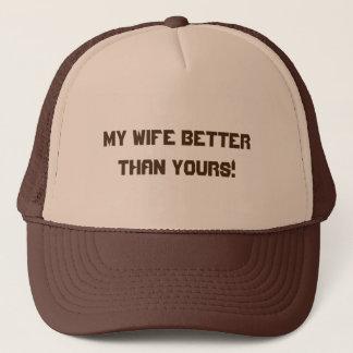Brown et casquette bronzage de camionneur